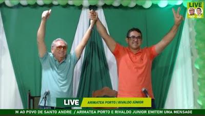 Arimatéa Porto e Rivaldo Júnior selam aliança e fecham chapa majoritária em Santo André