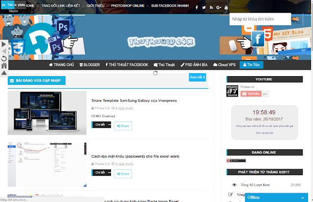 Mừng Blog Đạt 30k Lượt Xem, Thủ Thuật Pc4x Share Template Đang Dùng