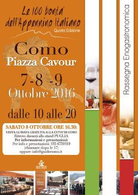 Le 100 bontà dell'Appennino Italiano 7-8-9 ottobre Como