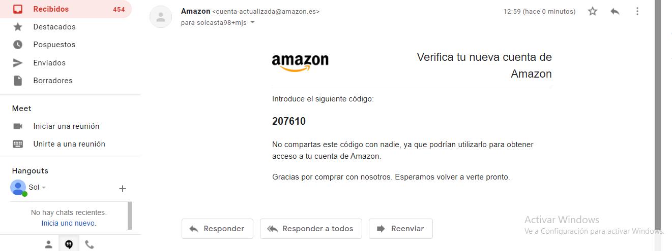 bandeja de entrada de Amazon prime video