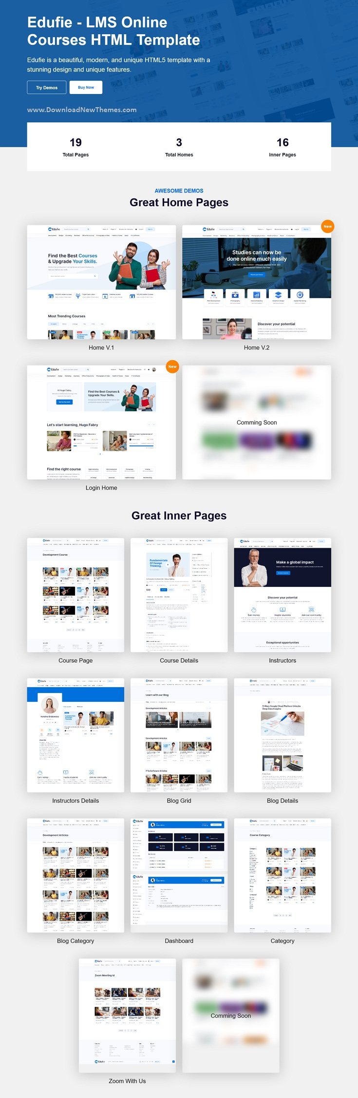 Best LMS Online Courses HTML Template