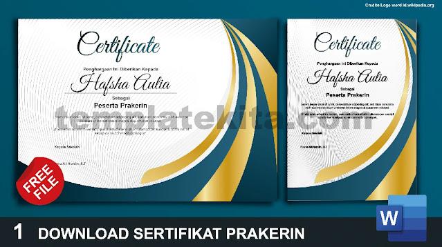 Download Contoh Sertifikat PKL Berbagai Format Gratis