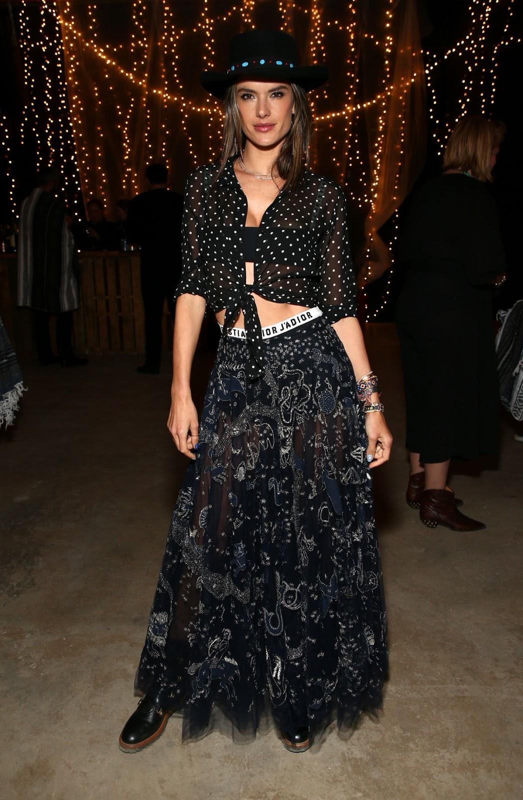 ALESSANDRA AMBROSIO at Dior Sauvage Party in Pioneertown