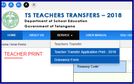 Print TS Teachers Transfers 2018 Submitted Application Form Download @transfers.cdse.telangana.gov.in/TSTT/Teachersprint.do Print TS Teachers Transfers 2018 Submitted Application Form Download @transfers.cdse.telangana.gov.in/TSTT/Teachersprint.do Teachers have to Take Printout of their Sumitted Application Form as TS Online Team Added some more Information like Declaration by the Teacher. TS Teachers Transfers 2018 many teachers have submitted their Online Application Form through given Official Web Link . Download Submitted Telangana Teachers Transfers Online Application Form to submit Hard Copy to Mandal Educational Officers for Physical Verification and to Attested print-ts-teachers-transfers-2018-application-form/2018/06/print-ts-teachers-transfers-2018-application-form..html