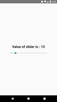 React Native Slider/Seekbar Example