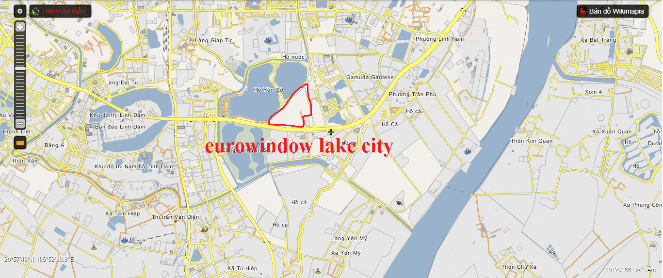 Vị trí Eurowindow Lake City.