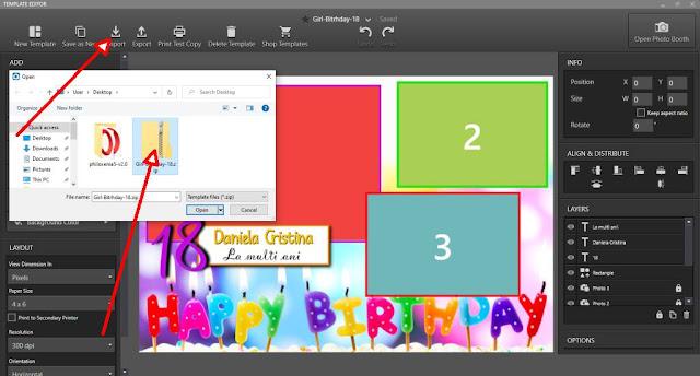 Template Photo-Booth gratuit pentru aniversare