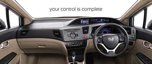 Interior Dashboard View of new civic 2013