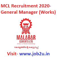 MCL Recruitment 2020- General Manager (Works)