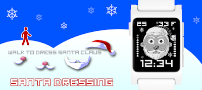 Santa dressing watchface - Pebble 2