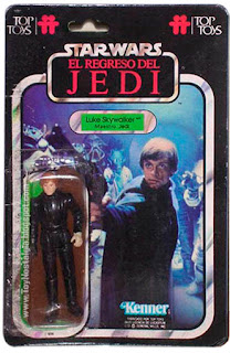 Luke Skywalker Maestro Jedi TOP TOYS card - El Regreso del Jedi - Argentina