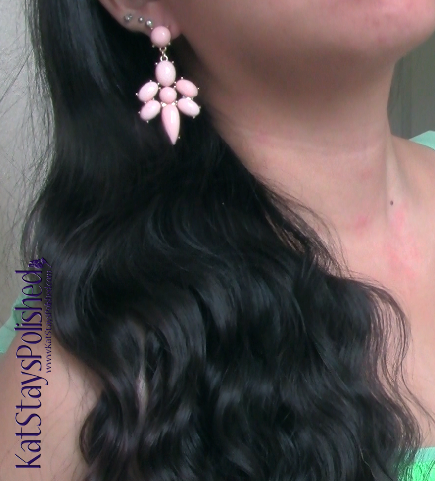 Pink Blush Maternity - Light Pink Stone Drop Earrings | Kat Stays Polished