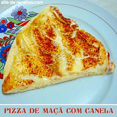 Pizza de maçã com canela