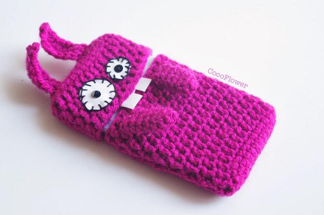 étui de portable samsung galaxy s3 mini en laine forme de lapin par CocoFlower