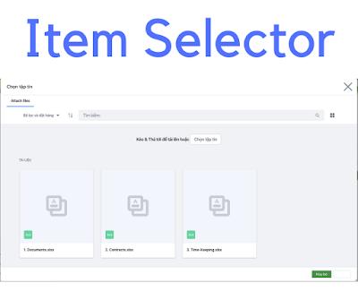 item selector