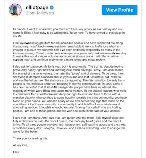 Ellen page elliot comes out