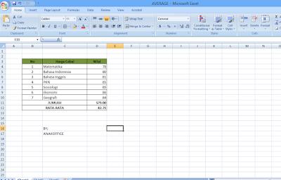 Cara Menggunakan Rumus Excel SUM
