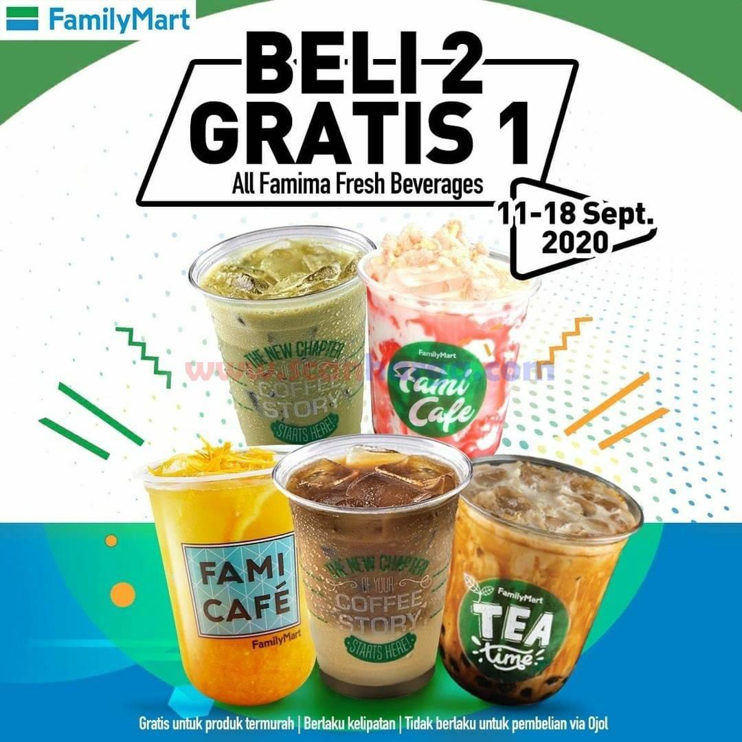 Family Mart Promo Fresh Beverages Beli 2 Gratis 1 Periode 11 - 18 September 2020