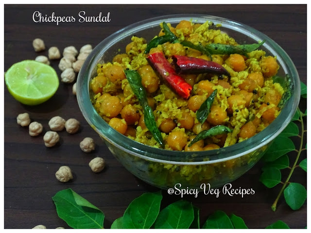 Breakfast&Snacks, chana, Festivals/ Chickpea Sundal is a healthy South Indian style protein rich snack, is generally served as prasadam after puja festivals like Navratri and Janmashtami. This dish has dry texture so you can have it as a tea time snack.Occasions, ganesh chaturthi, South Indian.,