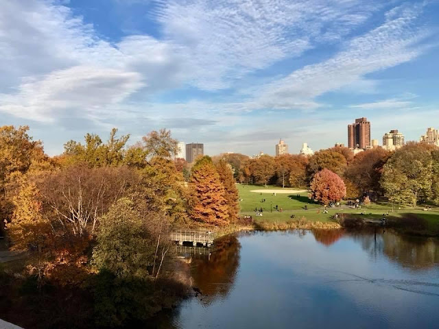 Beautiful autumn day in Central Park, New York City