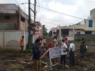 नगर परिषद शाहपुर का कॉलोनी वासियो द्वारा किया गया घेराव