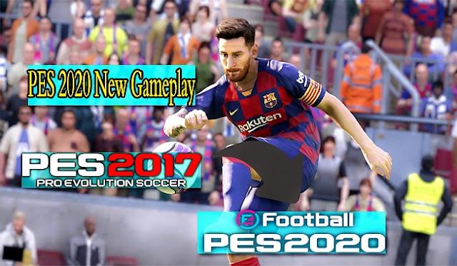 احدث واقوى جيم بلاى جديد ورهيب محول من بيس 2020 الى بيس 2017 ✔| PES 2020 New Gameplay