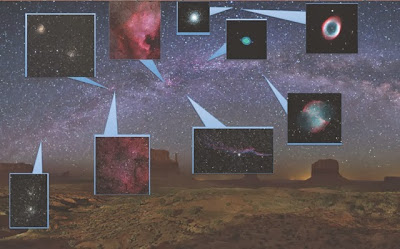 Deep-Sky objects the students imaged  that are visible from the Northern Hemisphere