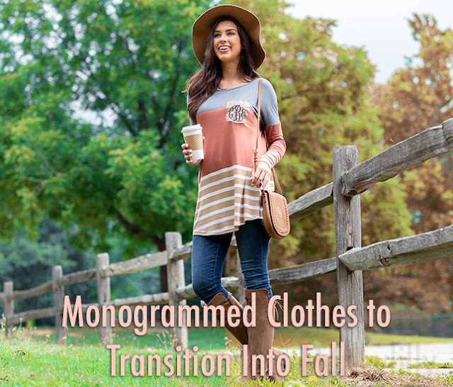 monogrammed layering tunic for fall