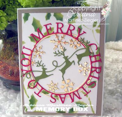 christmas circle card front