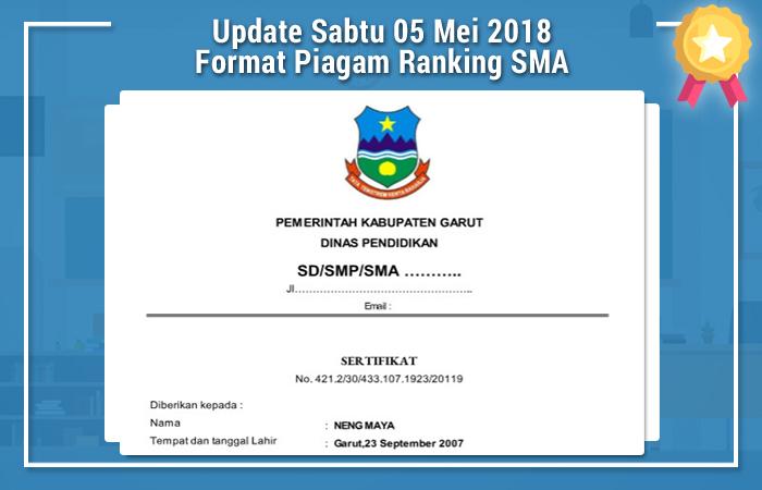 Update Sabtu 05 Mei 2018 Format Piagam Ranking SMA