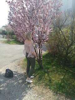 Schöner Frühlingslook