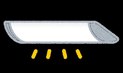 LEDベースライトのイラスト(照明)