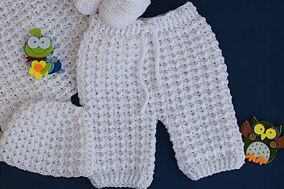 4 - Crochet Imagen Pantalones a crochet del conjunto blanco por Majovel Crochet