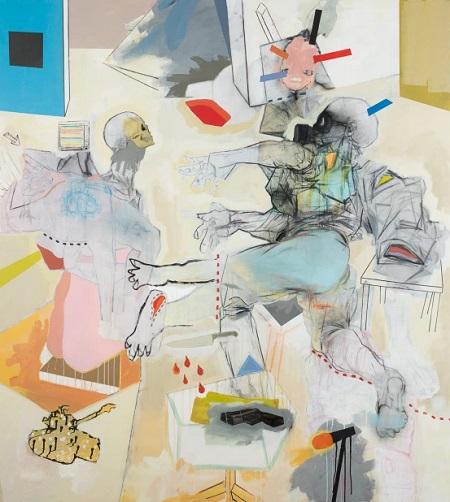 Thameur Mejri, It's war outside 2, 2016. | obras de arte abstracto contemporaneo, pinturas abstractas, imagenes | art selecta pictures inspiration