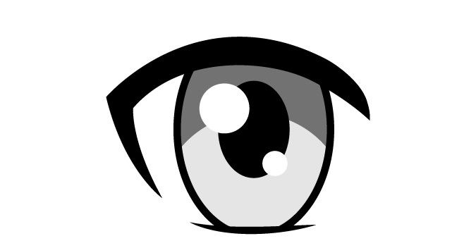 Shading mata anime wanita