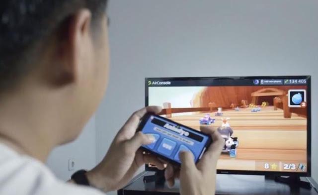 XL Home juga bisa bermain game pada aplikasi AirConsole