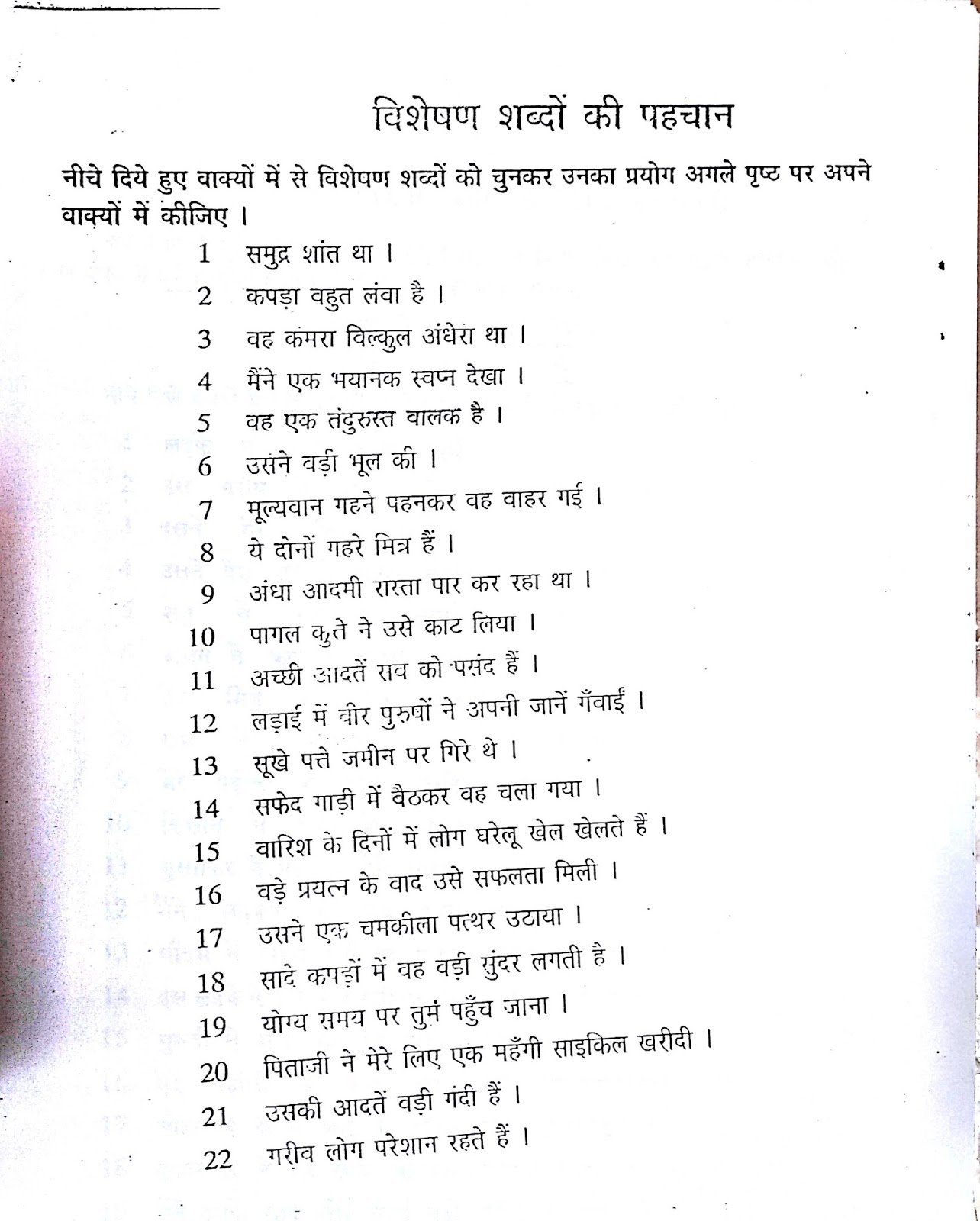 Sarvanam In Hindi Worksheet With Answers