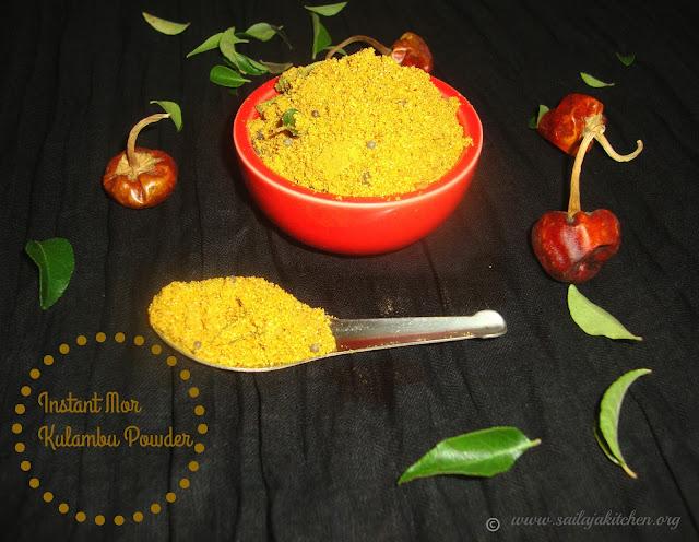 images of Instant Mor Kuzhambu Powder /  Instant Mor Kuzhambu Podi / Instant Buttermilk Gravy Powder