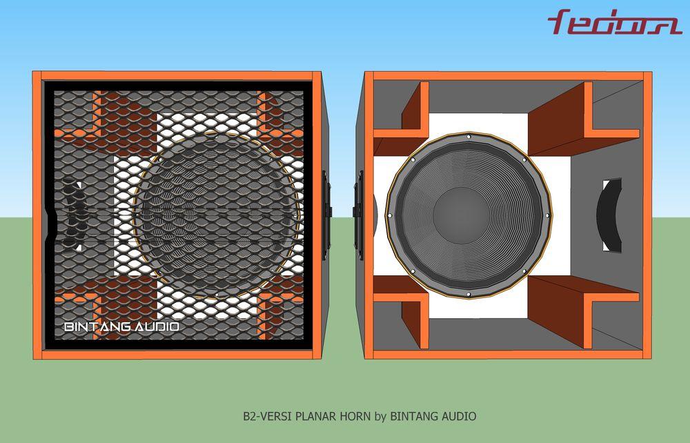 Hasil jadi speaker box planar horn
