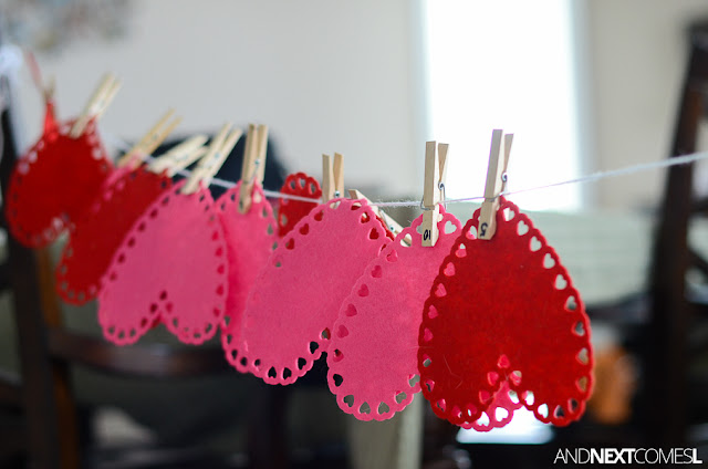 Valentine's hearts fine motor activity for toddlers and preschoolers