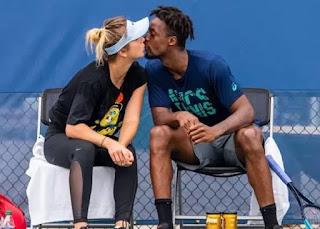 Elina Svitolina Kissing Her Boyfriend Gael Monfils