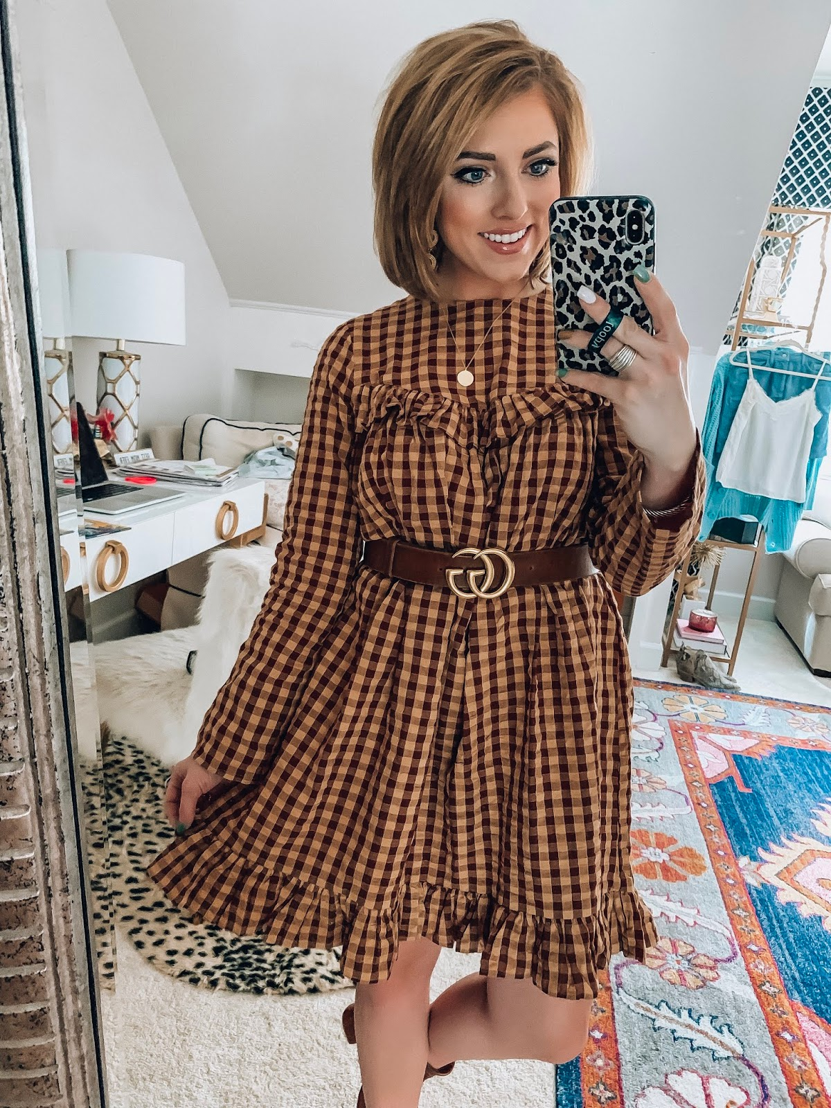ASOS New Fall Arrivals - $45 Ruffle Gingham Dress for Fall - Something Delightful Blog #fallstyle #affordablefashion