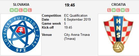 مشاهدة مباراة كرواتيا وسلوفاكيا بث مباشر بتاريخ 06-09-2019 التصفيات المؤهلة ليورو 2020