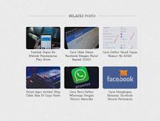 Cara Membuat Related Post Grid di Blogger