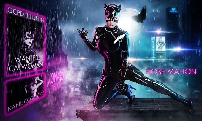Zanett Make Up con su cosplay de Catwoman en una sesión de Jamie Mahon