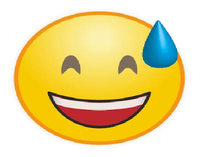 Emoticon WA Tersenenum Menertawkan Suatu Hal Konyol