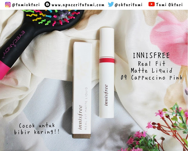 [REVIEW] Innisfree Real Fit Matte Liquid 09 Cappuccino Pink