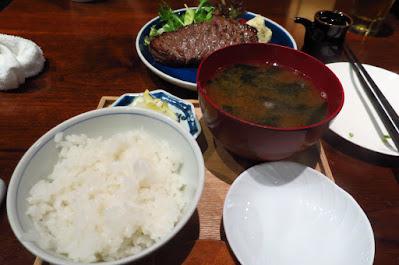 Japanese Restaurant Suju, wagyu sirloin steak teishoku