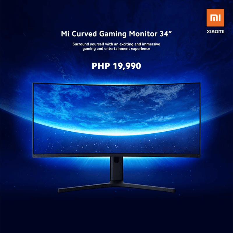 """Xiaomi brings Mi Curved Gaming Monitor 34"""" to the Philippines, priced at PHP 19,990"""