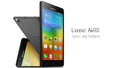 Lenovo A6000 Plus Specifications - LAUNCH Announced 2015, April Also Known as Lenovo A6000+ DISPLAY Type IPS capacitive touchscreen, 16M colors Size 5.0 inches (~69.8% screen-to-body ratio) Resolution 720 x 1280 pixels (~294 ppi pixel density) Multitouch Yes  - Lenovo Vibe 2.0 BODY Dimensions 141 x 70 x 8.2 mm (5.55 x 2.76 x 0.32 in) Weight 128 g (4.52 oz) SIM Dual SIM (Micro-SIM, dual stand-by) PLATFORM OS Android OS, v4.4.4 (KitKat), upgradable to v5.0.2 (Lollipop) CPU Quad-core 1.2 GHz Cortex-A53 Chipset Qualcomm MSM8916 Snapdragon 410 GPU Adreno 306 MEMORY Card slot microSD, up to 32 GB (dedicated slot) Internal 16 GB, 2 GB RAM CAMERA Primary 8 MP, f/2.2, autofocus, LED flash Secondary 2 MP Features Geo-tagging, touch focus, face detection Video 720p@30fps NETWORK Technology GSM / HSPA / LTE 2G bands GSM 900 / 1800 / 1900 - SIM 1 & SIM 2 3G bands HSDPA 2100 4G bands LTE band 1(2100), 3(1800), 7(2600), 20(800), 40(2300) - Data only, no voice Speed HSPA, LTE Cat4 150/50 Mbps GPRS Yes EDGE Yes COMMS WLAN Wi-Fi 802.11 b/g/n, hotspot GPS Yes, with A-GPS USB microUSB v2.0 Radio FM radio Bluetooth v4.0, A2DP FEATURES Sensors Accelerometer, proximity Messaging SMS(threaded view), MMS, Email, Push Mail, IM Browser HTML5 Java No SOUND Alert types Vibration; MP3, WAV ringtones Loudspeaker Yes, with stereo speakers 3.5mm jack Yes  - Dolby Digital Plus  - Active noise cancellation with dedicated mic BATTERY  Removable Li-Po 2300 mAh battery Stand-by Up to 264 h (2G) / Up to 264 h (3G) Talk time Up to 22 h (2G) / Up to 13 h (3G) Music play  MISC Colors Black, White, Yellow, Red  - MP4/H.264 player - MP3/WAV/eAAC+/FLAC player - Photo/video editor - Document viewer